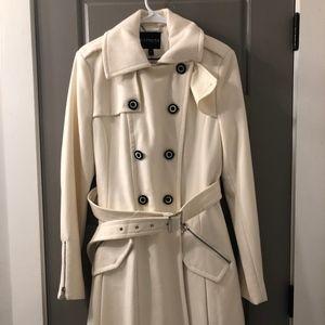 Express Long Cream Coat (M)
